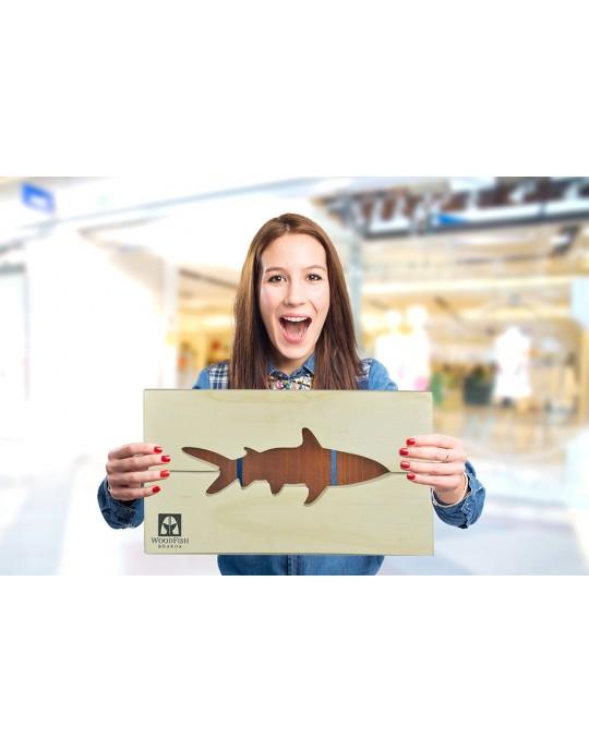 Quadro Decoração Tubarão Branco