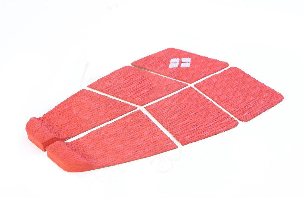 Deck Surf 6 Partes Rubber Sticky Vermelho Prancharia