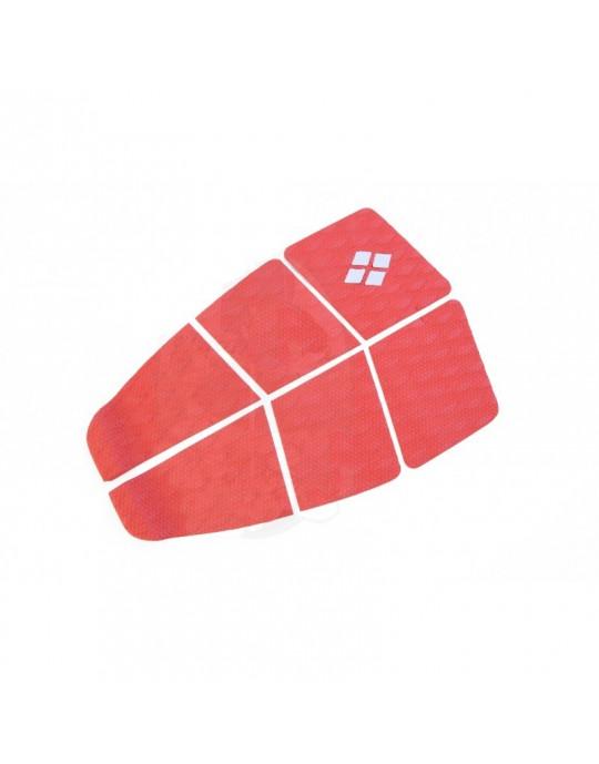 Deck Surf 6 Partes Rubber Sticky Vermelho