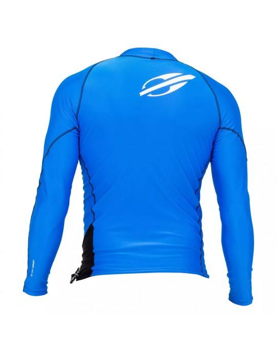 Camisa Lycra Manga Longa Snap Mormaii UV50+ Azul/Preto