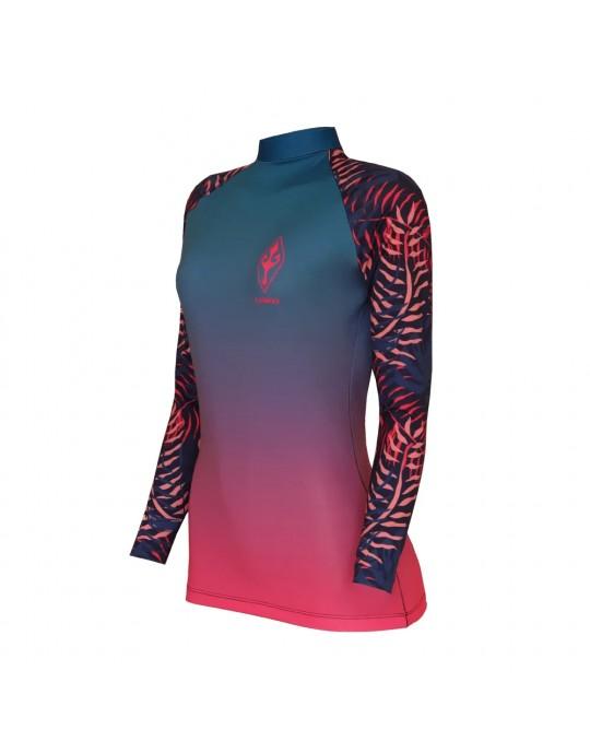 Camiseta Lycra Femenina Palm Vibes EcoSurf Lord UV 50+