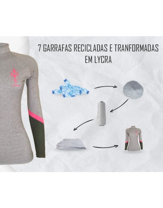 Camiseta Lycra Feminina Geometric Ecosurf UV50+