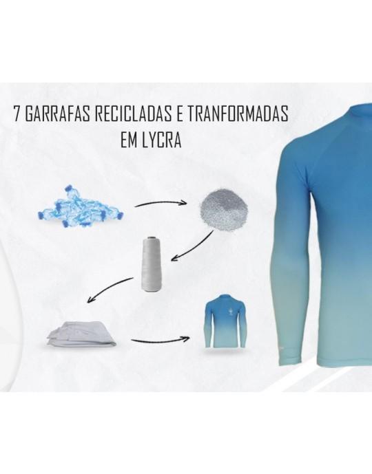Camiseta Lycra Wave EcoSurf Lord UV 50+ Azul