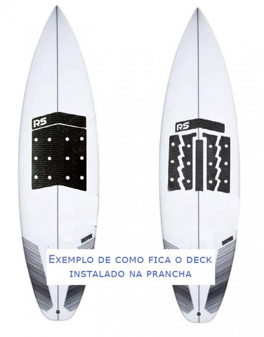 Deck Frontal para pranchas Surf - 6 partes - Preto