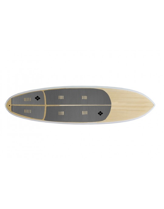 Deck para prancha stand up paddle com 6 mm de espessura Cinza