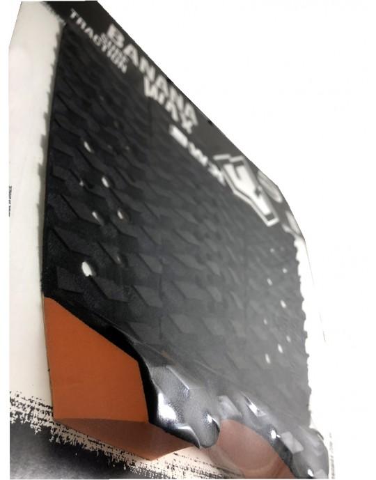 Deck Surf Banana Wax Fresado Preto e Laranja 3 Partes