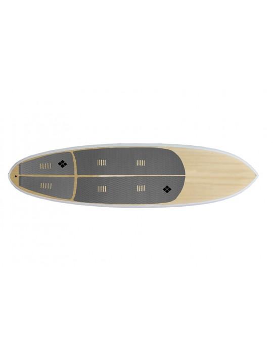 Deck para prancha stand up paddle com 6 mm de espessura Cinza