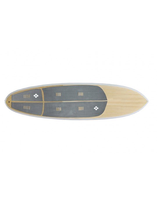 Deck Stand Up Paddle Rubber Sticky 3 mm Cinza
