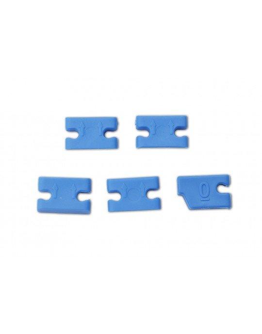 Kit 5 Adaptadores Expans Quilhas FCS 2 Azul