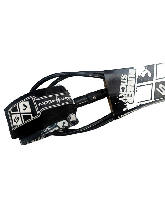 Leash Surf Double Swivell 8'0'' x 6.5 mm. - Rubber Sticky Teahupo Line