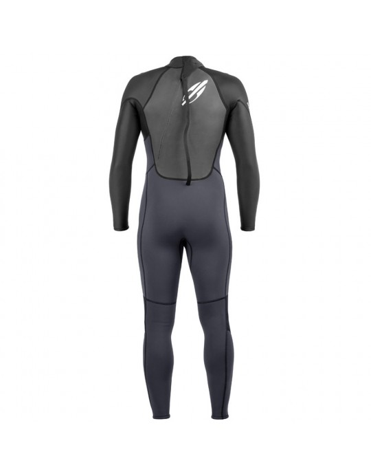 Long John Mormaii 3.2 mm Extra Line Backzip Preto/Cinza