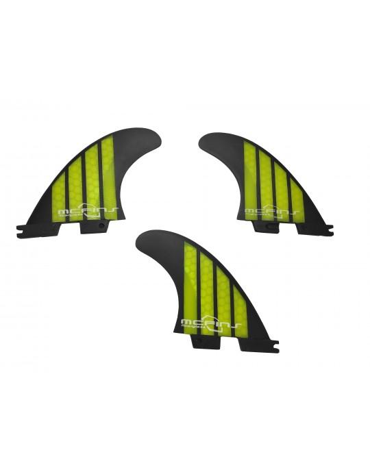 Quilhas Fibra de Vidro McFins FCS2 Oahu Preto / Verde - Media