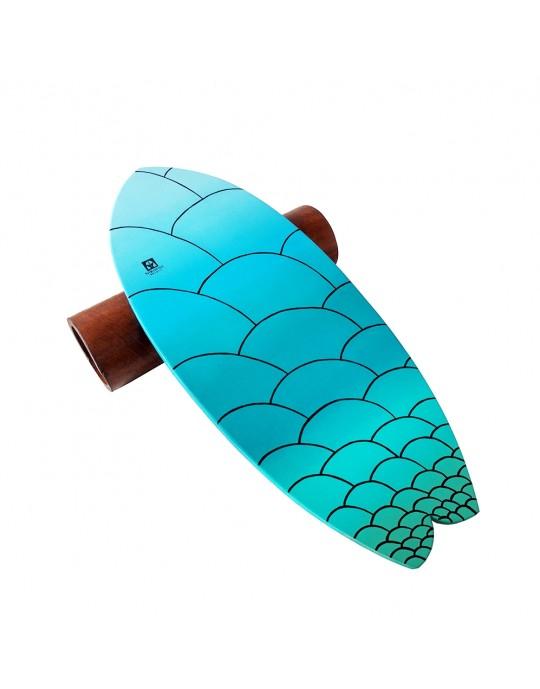 Prancha de Equilíbrio Wood Fish Escamas