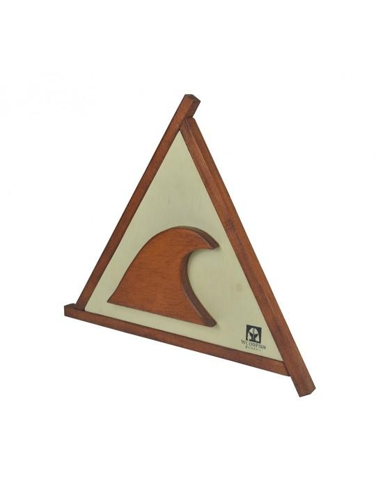 Quadro Decorativo Triangular Onda Surf