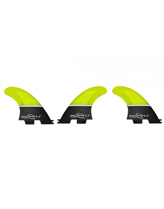 Quilhas Fibra de Vidro McFins FCS2 Black Trunck - Media
