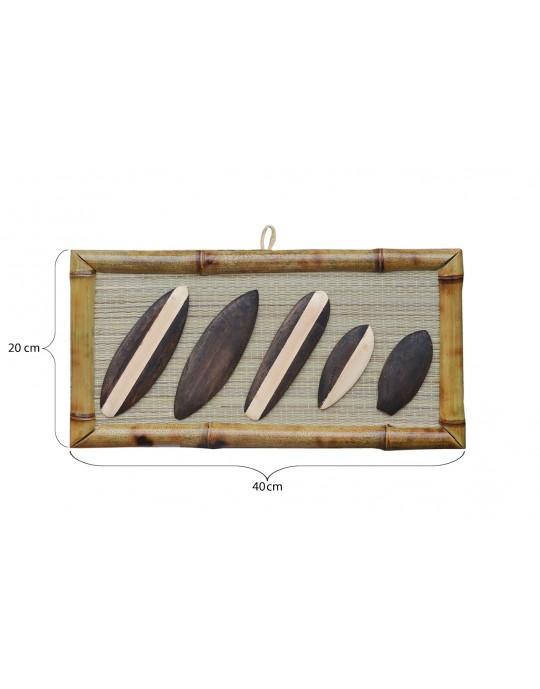 Quadro Decorativo Bambu Pranchas de Surf