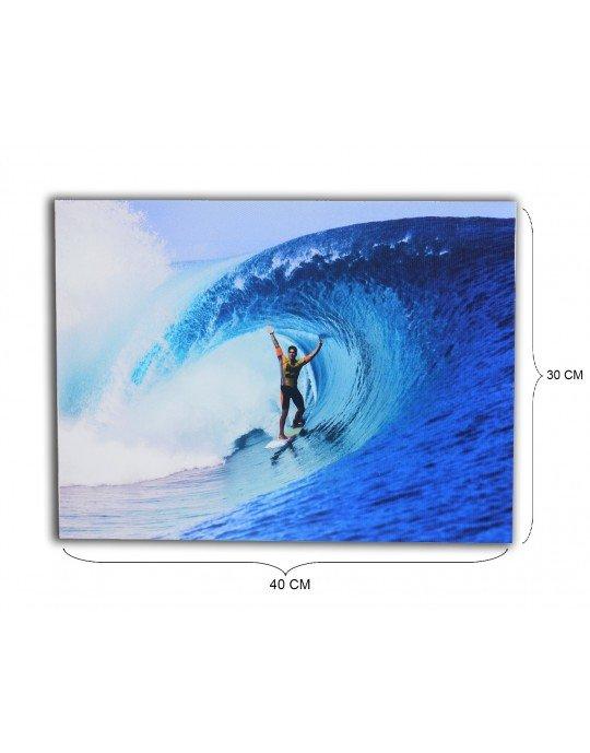 Quadro Surfista Teahupoo