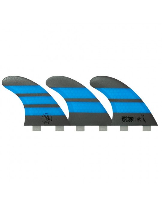 Quilhas Fibra de Vidro BTT Medium Design Bottom Fins