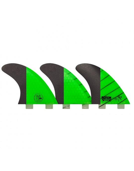 Quilhas Fibra de Vidro BTT2 Medium Carbono Bottom Fins