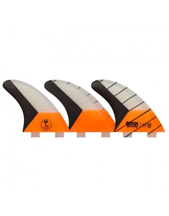 Quilhas Fibra de Vidro BTTP Large Carbono Bottom Fins