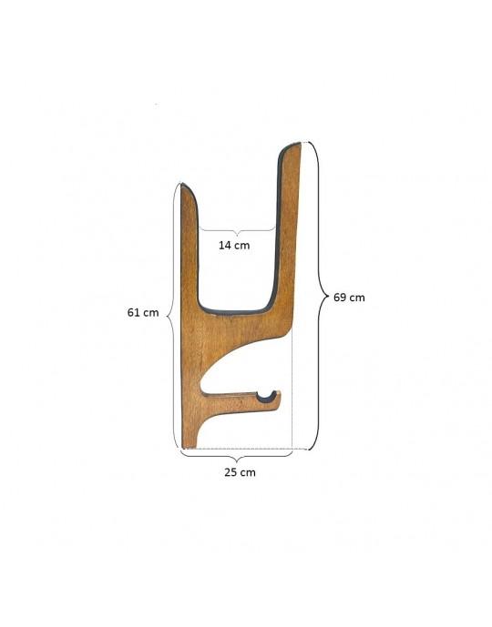 Rack de Madeira Stand up paddle - tipo quadro com apoio de remo