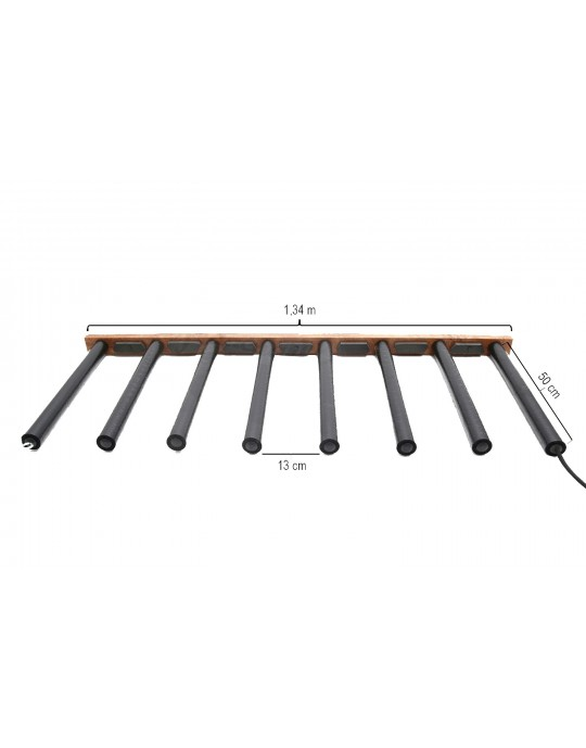 Rack na vertical Para 7 Pranchas de Stand Up Paddle - Madeira
