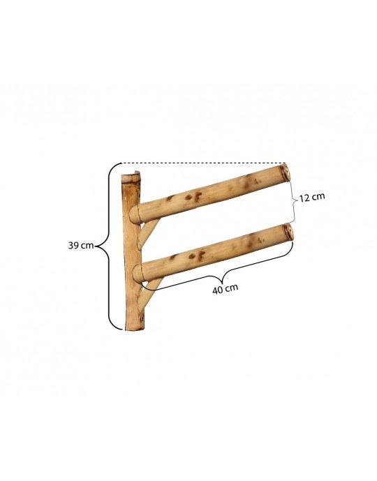 Rack Para 2 Pranchas de Surf 45º - Horizontal - Totalmente de Bambu