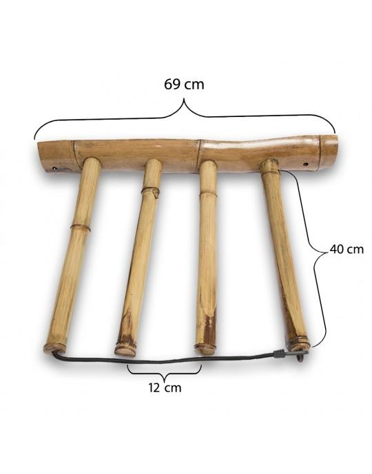 Rack Para 3 Pranchas de Surf - Vertical - Totalmente em Bambu