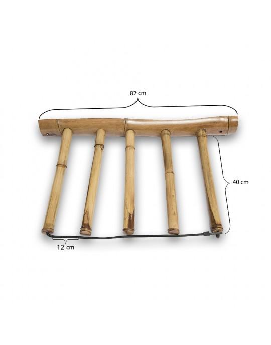 Rack Para 4 Pranchas de Surf - Vertical - Totalmente em Bambu