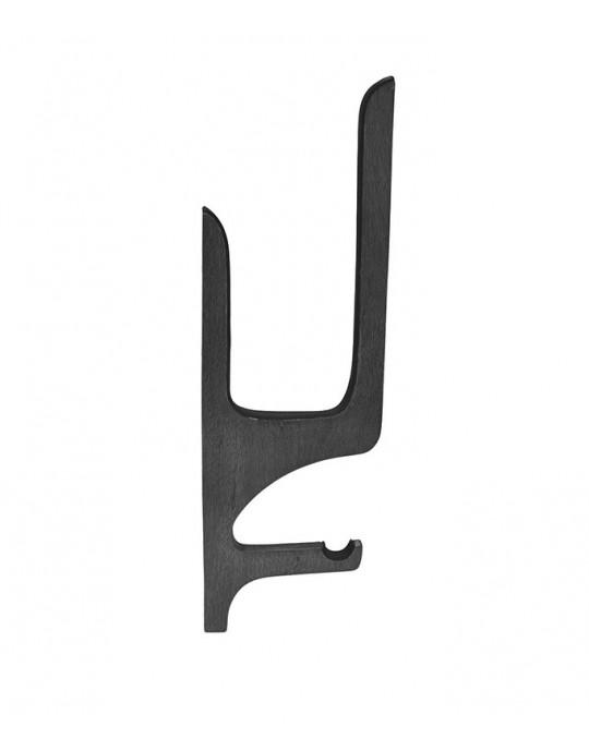 Rack de Madeira Stand up paddle - tipo quadro com apoio de remo - Preto