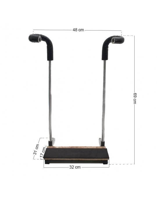 Rack Vertical tipo Expositor para 01 Prancha de Surf ate 6'8''