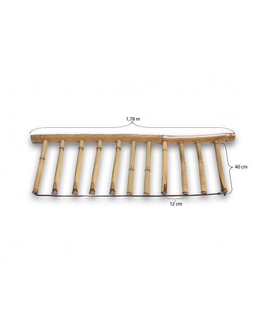 Rack Para 10 Pranchas de Surf - Vertical - Totalmente em Bambu