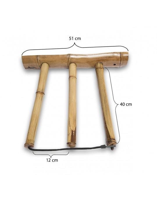 Rack Para 2 Pranchas de Surf - Vertical - Totalmente em Bambu