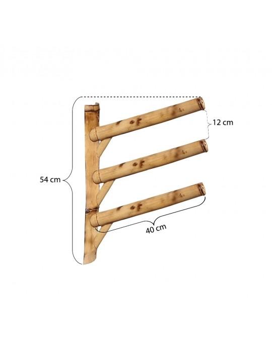 Rack Para 3 Pranchas de Surf 45º - Horizontal - Totalmente de Bambu