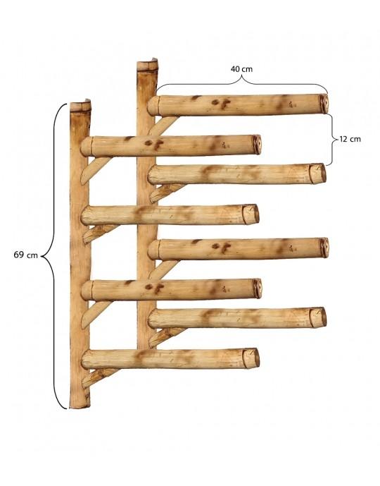 Rack Para 4 Pranchas de Surf - Horizontal - Totalmente em Bambu