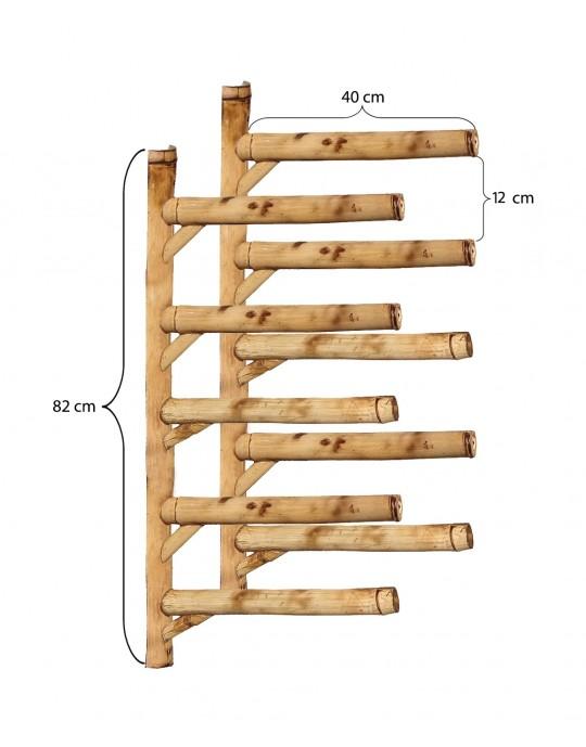 Rack Para 5 Pranchas de Surf - Horizontal - Totalmente em Bambu