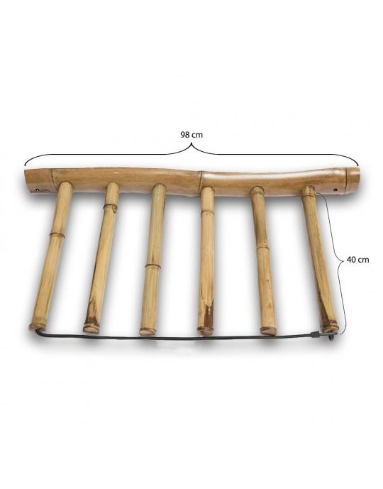 Rack Para 5 Pranchas de Surf - Vertical - Totalmente em Bambu