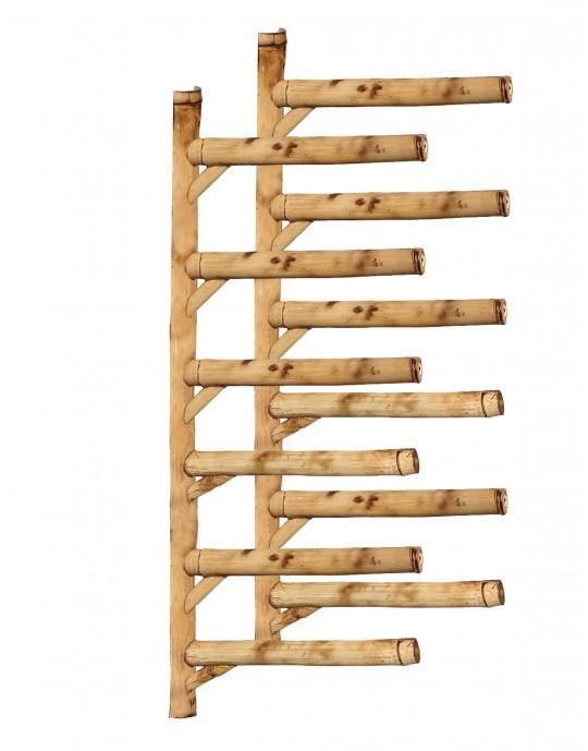 Rack Para 6 Pranchas de Surf - Horizontal - Totalmente em Bambu