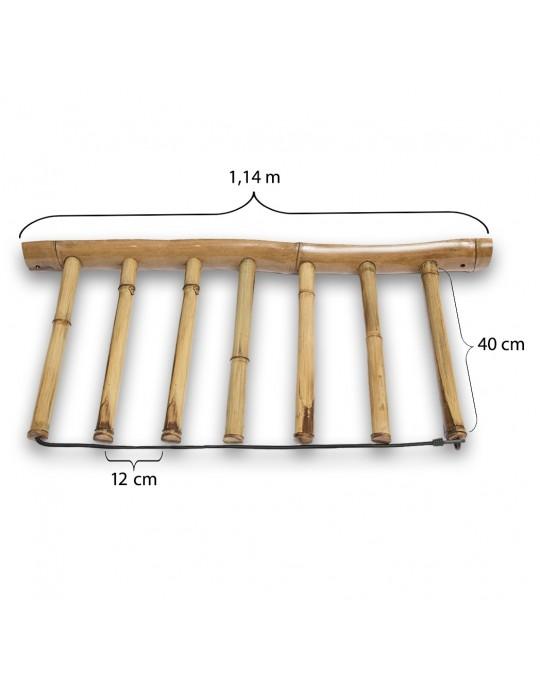 Rack Para 6 Pranchas de Surf - Vertical - Totalmente em Bambu