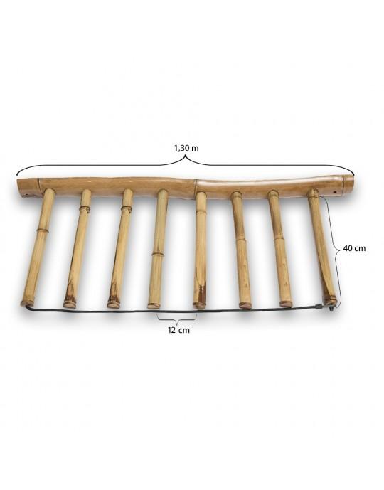 Rack Para 7 Pranchas de Surf - Vertical - Totalmente em Bambu