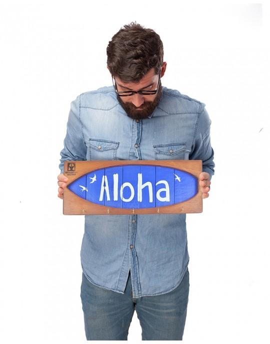 Shape Chaveiro De Surf Aloha Azul