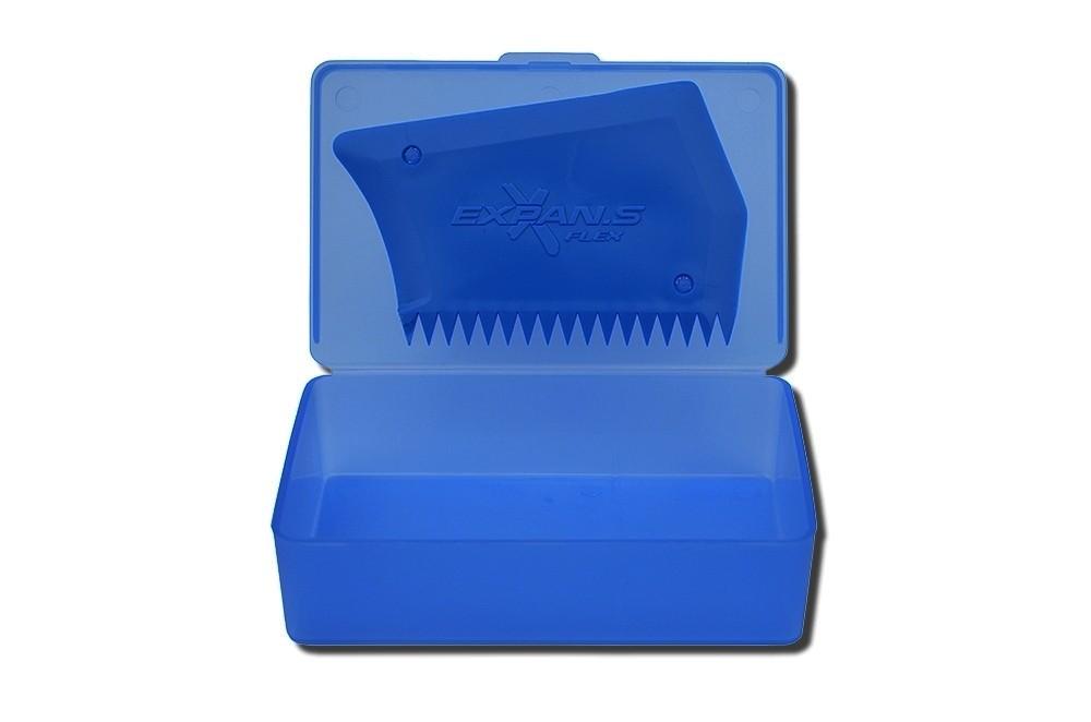 Box para parafina com raspador Expans azul | Prancharia
