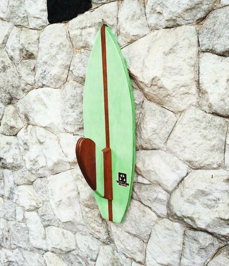 Cabideiro com Quilha na Pranchinha Verde | Prancharia