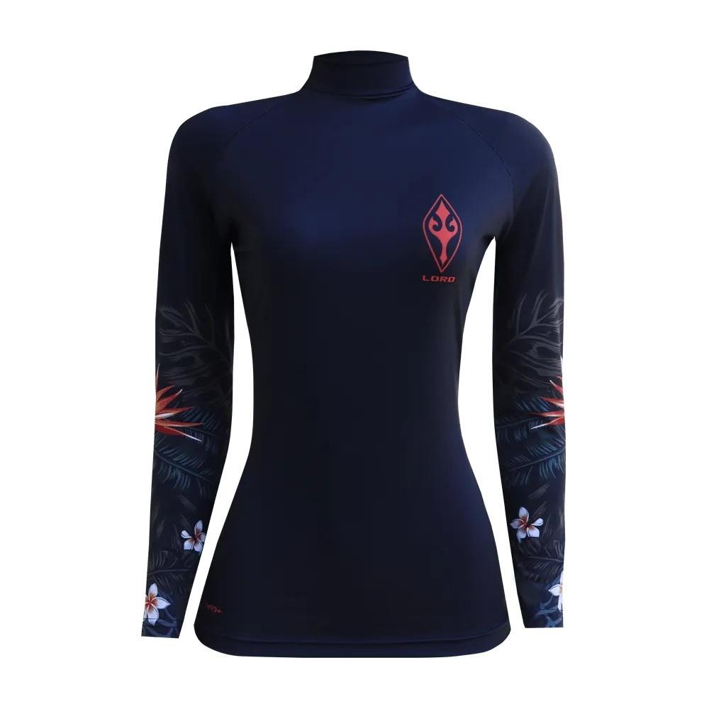 Camiseta Lycra Feminia Flowers Of The Sea EcoSurf Lord UV 50+