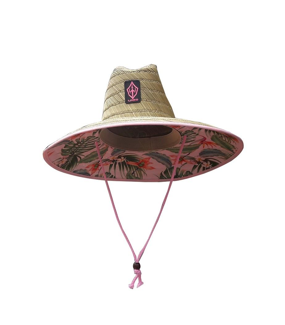 Chapéu Palha Surf Lord Rosa Floral
