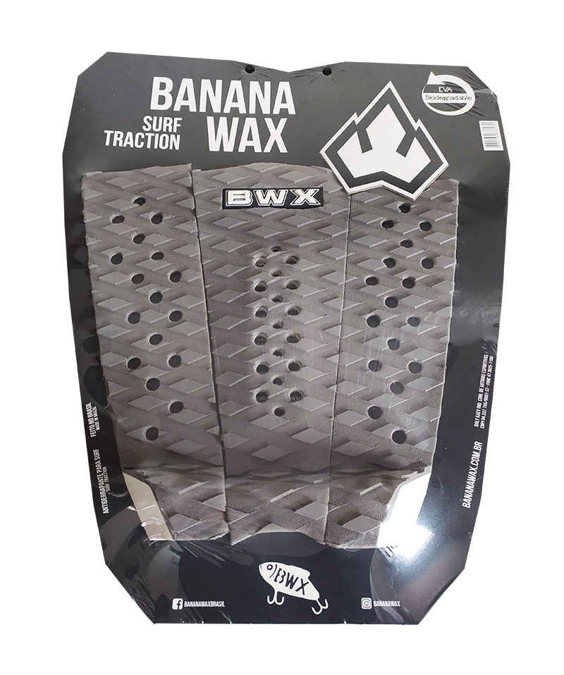 Deck Surf Banana Wax Thermo-Fresado CInza 3 Partes