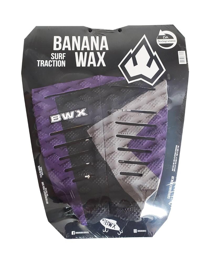 Deck Surf Banana Wax Thermo-Fresado Roxo e Cinza 2 Partes