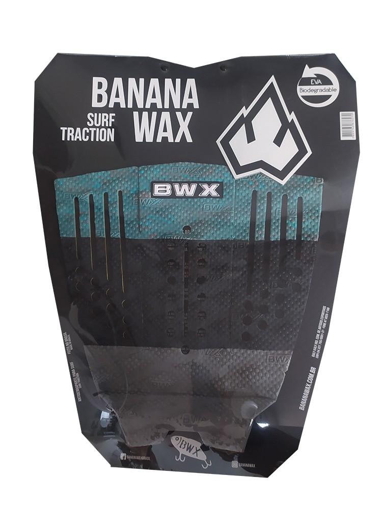 Deck Surf Banana Wax Thermo-Fresado Verde e Preto 3 Partes