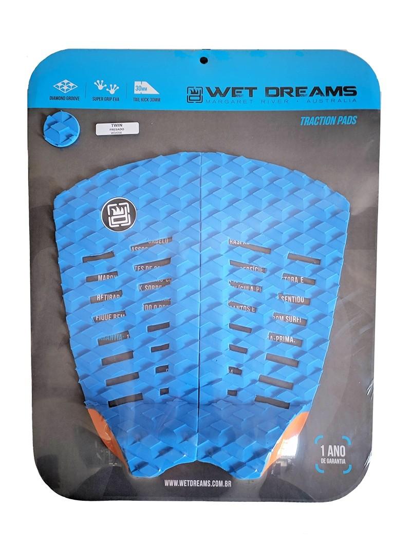 Deck Surf Wet Dreams Fresado Twin Azul com Laranja