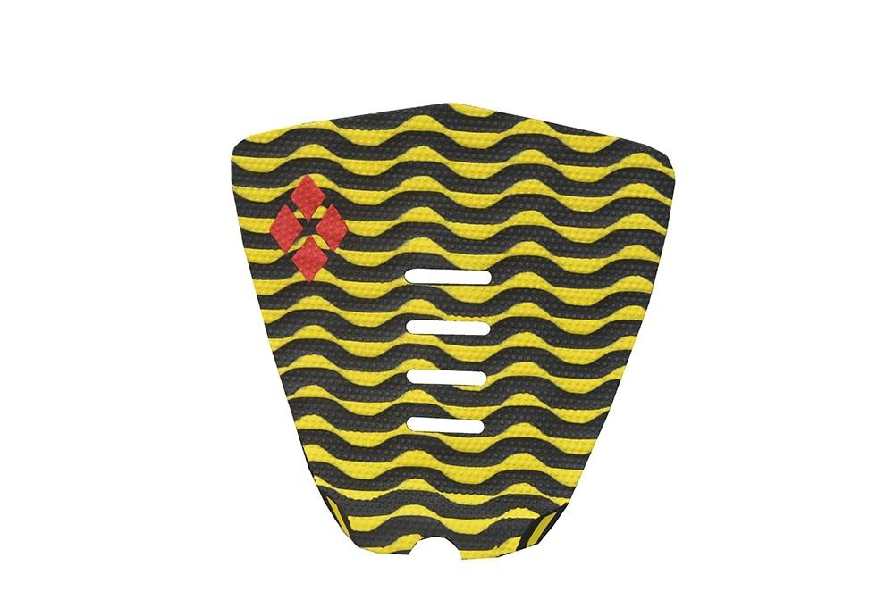 Deck Thermo-Fresado Wave Rubber Sticky Preto e Amarelo | Prancharia